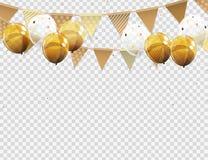 Groupe de ballons brillants d'hélium de couleur avec la page vide d'isolement sur le fond transparent Illustration de vecteur illustration stock
