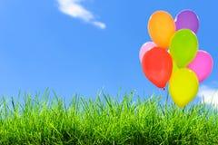 Groupe de ballons colorés photos stock