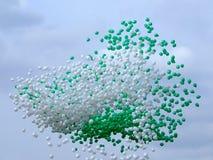Groupe de ballons dans le ciel Photos libres de droits