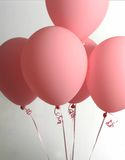 Groupe de ballons roses Image stock