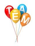 Groupe de ballons Team Concept Photographie stock libre de droits