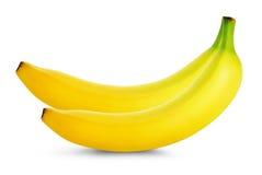 Groupe de bananes d'isolement sur le fond blanc Image stock