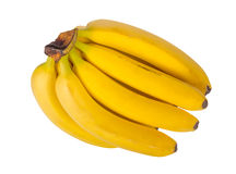 Groupe de bananes d'isolement sur le fond blanc Images stock