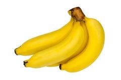 Groupe de bananes mûres d'isolement au-dessus du fond blanc Image stock