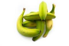Groupe de bananes vert jaunâtre Photographie stock