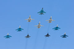 Groupe de bataille-avions Photos stock