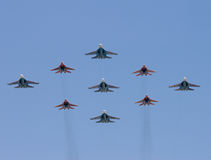 Groupe de bataille-avions Photo stock
