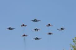 Groupe de bataille-avions Images libres de droits