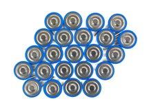 Groupe de batteries d'aa Photographie stock libre de droits