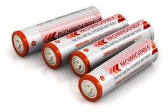 Groupe de batteries de taille d'aa Images stock