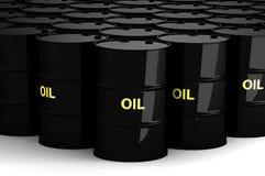 Groupe de bidons à pétrole Image libre de droits