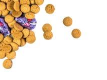 Groupe de biscuits de Pepernoten et de souris de chocolat Photo libre de droits