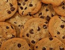 Groupe de biscuits de puce de chocolat Photographie stock