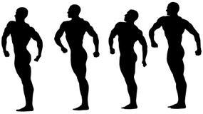 Groupe de bodybuilders d'athlètes Photographie stock