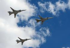 Groupe de bombardiers stratégiques à longue portée supersoniques Tu-22M3 photo libre de droits