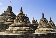 Groupe de Borobudur Photo libre de droits