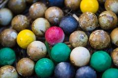 Groupe de boule colorée de pierres Image libre de droits
