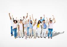 Groupe de célébration occasionnelle diverse de personnes Image libre de droits