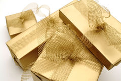 Groupe de cadeaux Images stock