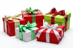 Groupe de cadeaux Images libres de droits
