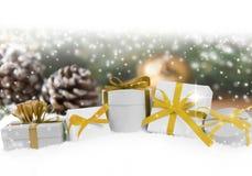 Groupe de cadeaux Photo libre de droits