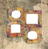 Groupe de cadres peints colorés vides de carton Images libres de droits