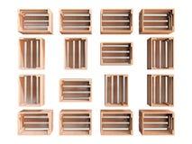 Groupe de caisses en bois photos stock
