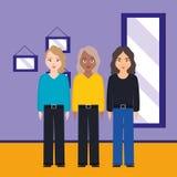 Groupe de caractères de diversité de femmes illustration libre de droits