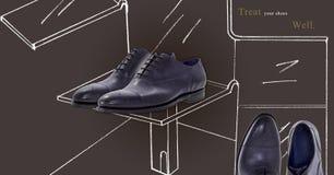 Groupe de chaussures des hommes Image libre de droits