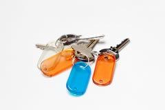Groupe de clés avec des étiquettes de couleur Photographie stock