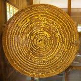 Groupe de cocons de ver à soie dans les nids Photographie stock libre de droits