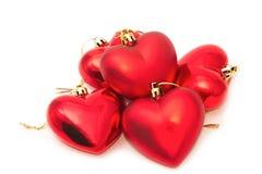 Groupe de coeur rouge Photographie stock