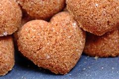 Groupe de coeurs de sucre roux Photographie stock libre de droits