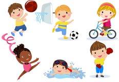 Groupe de collection d'enfants de sport illustration de vecteur