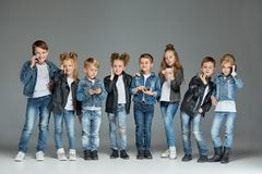 Groupe de concept de studio d'enfants Photo stock