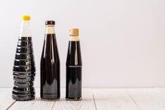 groupe de condiment de bouteille de sauce pour la cuisson Image stock