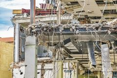 Groupe de construction démoli Image libre de droits