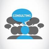 Groupe de consultation illustration stock