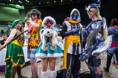 Groupe de cosplayers photo libre de droits