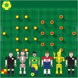 Groupe de coupe du monde un soutien-gorge contre l'hôte Images stock