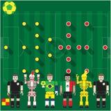 Groupe de coupe du monde un soutien-gorge contre Mex Photographie stock libre de droits