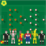 Groupe de coupe du monde une came contre l'hôte Image libre de droits