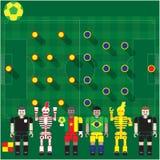 Groupe de coupe du monde une came contre le soutien-gorge Image libre de droits