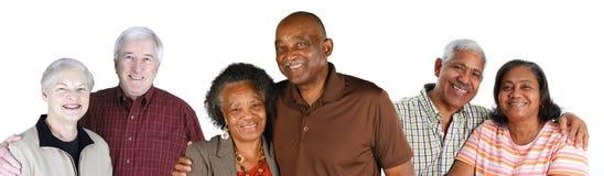 Groupe de couples pluss âgé Photo libre de droits