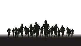 Groupe de coureurs illustration libre de droits