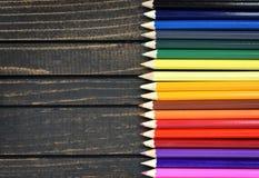 Groupe de crayon sur la table Image stock