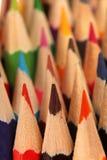 Groupe de crayons colorés, texture des crayons colorés Image stock