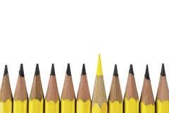 Groupe de crayons sur le fond blanc Photo stock