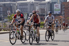 Groupe de curseurs - chemin de cycle de 94.7 Highveld Photo stock