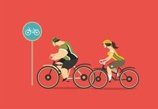 Groupe de cyclistes Photos libres de droits